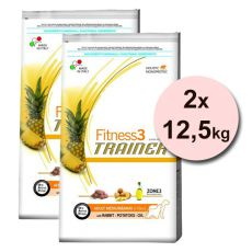 Trainer Fitness3 Adult MEDIUM MAXI, králík s bramborami - 2 x 12,5 kg