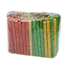 Tyčinky pro psy z hovězí kůže, barevné - 50 ks