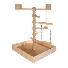 Hračka pro papoušky - dřevěné hřiště, 41x55x41 cm