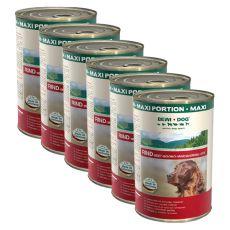 BEWI DOG , Hovězí - 6 x 1200 g konzerva