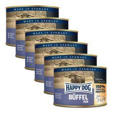 Happy Dog Pur - Büffel/buvolí maso, 6 x 200 g, 5+1 GRATIS