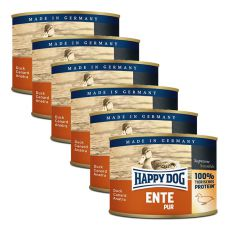 Happy Dog Pur - Ente/kachna, 6 x 200g, 5+1 GRATIS