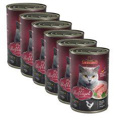 Konzerva pro kočky Leonardo - Drůbež 6 x  400g
