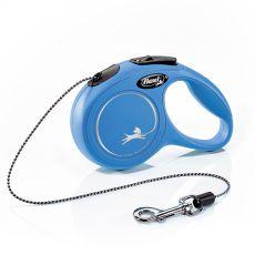 Flexi vodítko New Classic XS do 8 kg, 3m lanko - modré