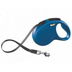 Flexi vodítko New Classic S do 15 kg, 5m popruh - modré