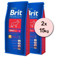 Brit Premium Adult Large 2 x 15kg
