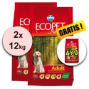 Farmina MO P ECOPET N dog ADULT MEDIUM 2 x 12 kg + 4 kg GRATIS