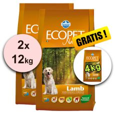 Farmina MO P ECOPET N dog LAMB MINI 2 x 12 + 4 kg ZADARMO