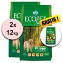 Farmina MO P ECOPET N dog PUPPY MEDIUM 2 x 12kg + 4kg GRATIS
