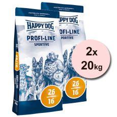 Happy Dog 26-16 SPORTIVE 2 x 20 kg
