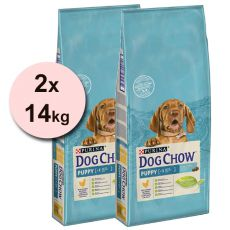 PURINA DOG CHOW PUPPY Chicken & Rice 2 x 14 kg