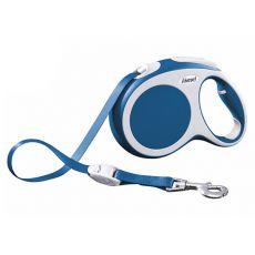 Flexi Vario L vodítko do 60 kg, 5m popruh - modré
