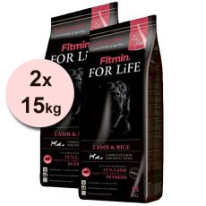 Fitmin FOR LIFE Adult Lamb & Rice 2 x 15 kg + DOPRAVA ZDARMA