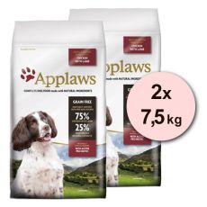 Applaws Dog Adult Small & Medium Breed Chicken & Lamb 2 x 7,5 kg
