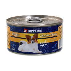 Konzerva ONTARIO Adult pro psa, kuřecí kousky + nugety, 200 g