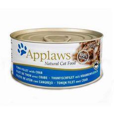 Applaws Cat - konzerva pro kočky s tuňákem a krabem, 70 g