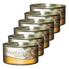 Applaws Cat - konzerva pro kočky s kuřecími prsy 6 x 70 g