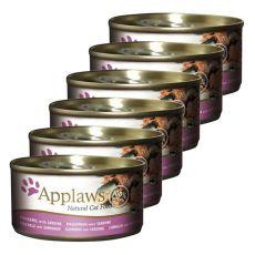 Applaws Cat - konzerva pro kočky s makrelou a sardinkami, 6 x 70 g