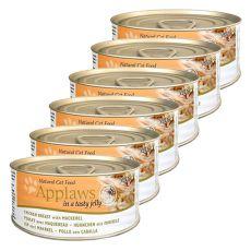 Applaws Cat Jelly - konzerva pro kočky s kuřetem a makrelou, 6 x 70 g