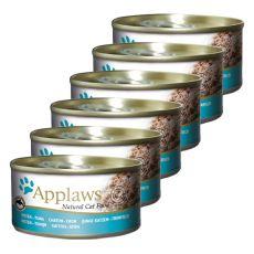 Applaws Kitten - konzerva pro koťátka s tuňákem, 6 x 70 g