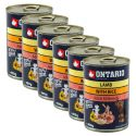 Konzerva ONTARIO pro psa, jehněčí, rýže a olej - 6x400 g