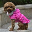 Bunda pro psa s imitací kapes na zip - růžová, XS