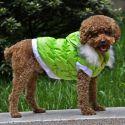 Bunda pro psa s odepínatelnou kapucí - zelená, XL
