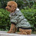 Bunda pro psa s černým lemováním - zelená, S
