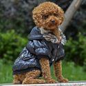 Bunda pro psa s černým lemováním - černá, XS