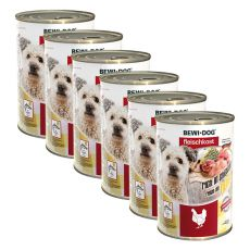 New BEWI DOG konzerva – Chicken - 6 x 400 g, 5+1 GRATIS