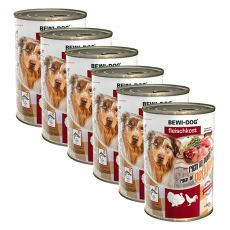 New BEWI DOG konzerva – Drůbež - 6 x 400 g, 5+1 GRATIS