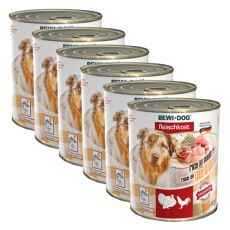 New BEWI DOG konzerva – Drůbež - 6 x 800 g