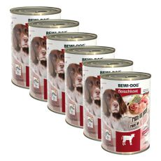 New BEWI DOG konzerva – Telecí - 6 x 400 g, 5+1 GRATIS