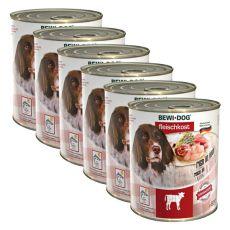 New BEWI DOG konzerva – Telecí - 6 x 800 g, 5+1 GRATIS