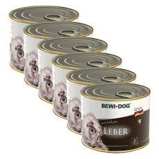 Bewi dog Paté - Játra - 6 x 200 g, 5+1 GRATIS