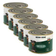 Bewi dog Paté – Wild - 6 x 200 g, 5+1 GRATIS