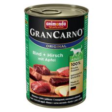 Konzerva GranCarno Original Adult hovězí a jelení maso s jablky - 400 g