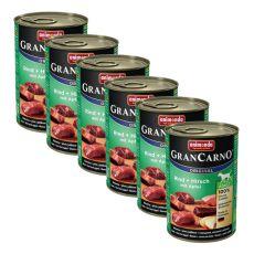 Konzerva GranCarno Original Adult hovězí a jelení maso s jablky - 6 x 400 g