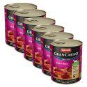 Konzerva GranCarno Original Adult hovězí maso a srdce - 6 x 800 g