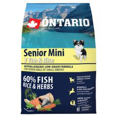 ONTARIO Senior Mini 7 Fish & Rice 2,25 kg