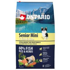 ONTARIO Senior Mini 7 Fish & Rice 6,5 kg