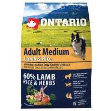 ONTARIO Adult Medium Lamb & Rice 2,25 kg