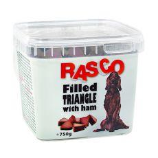 Pamlsky RASCO - plněný trojúhelník se šunkou, 750 g