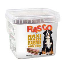Pamlsky RASCO - šunková maxihvězda s játry, 800 g