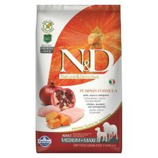 Farmina N&D dog GF PUMPKIN adult medium/maxi, chicken & pomegranate – 12 kg