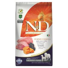 Farmina N&D dog GF PUMPKIN adult medium/maxi, lamb & blueberry - 12 kg