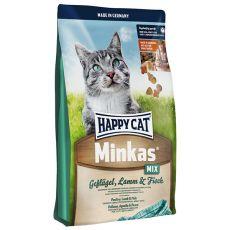 Happy Cat Minkas MIX - drůbeží, jehněčí a ryba - 10 kg