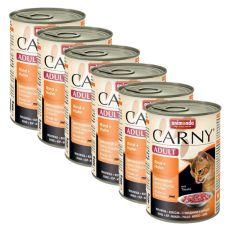 Krmivo CARNY ADULT hovězí + kuřecí maso - 6 x 400 g