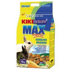 KIKI EXCELLENT MAX MENU - krmivo pro trpasličí králíky, 4 kg