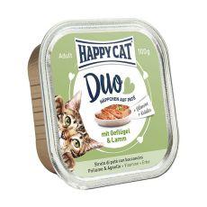 Happy Cat DUO MENU - drůbež a jehněčí, 100 g